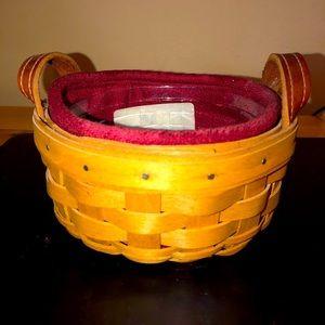 Longaberger Saffron booking basket Paprika liner